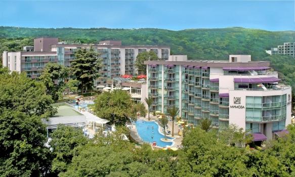 Hotel Mimosa Goldstrand Luftbild