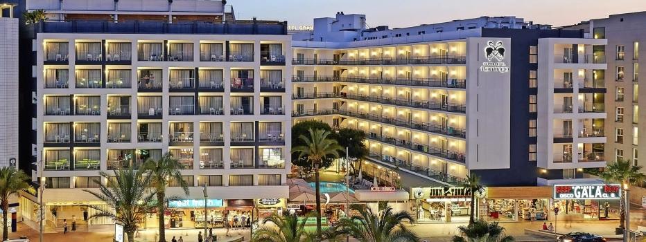 Hotel Flamingo Lloret de mar Außenansicht Nacht Party
